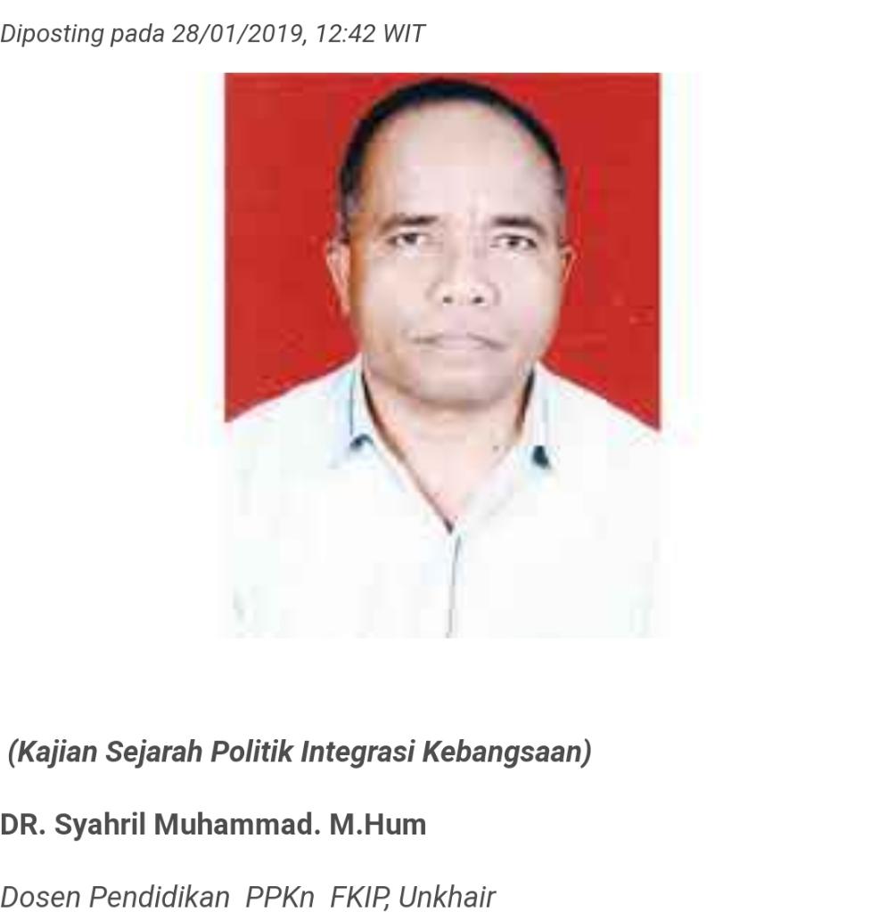 Papua tanpa Tidore Papua Tidak Menjadi Indonesia