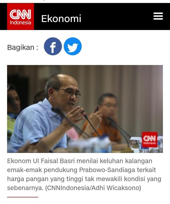 Faisal Basri Kritik Emak-emak Pendukung Prabowo-Sandi