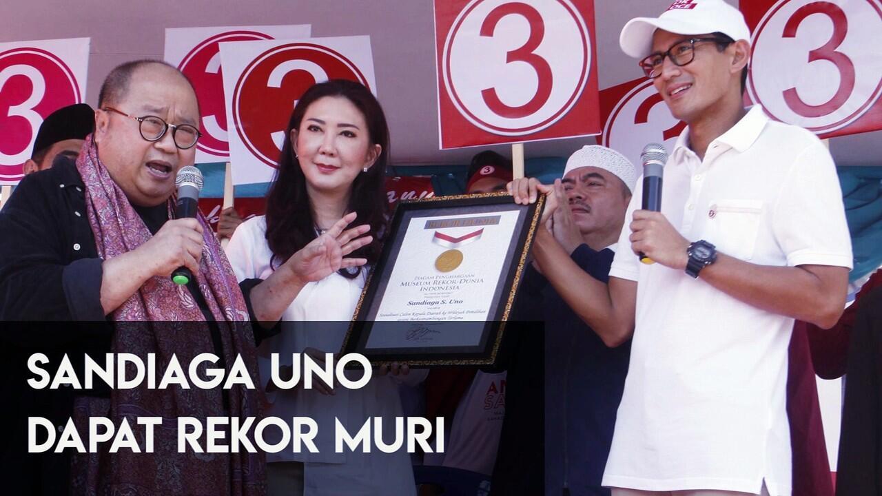 Selamat! Sandiaga Uno Berhasil Pecahkan Rekor MURI