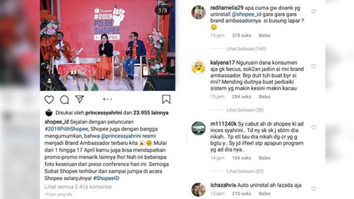 Heboh, Netijen Indonesia Membuat Gerakan #Uninstall Shopee Karena Ini
