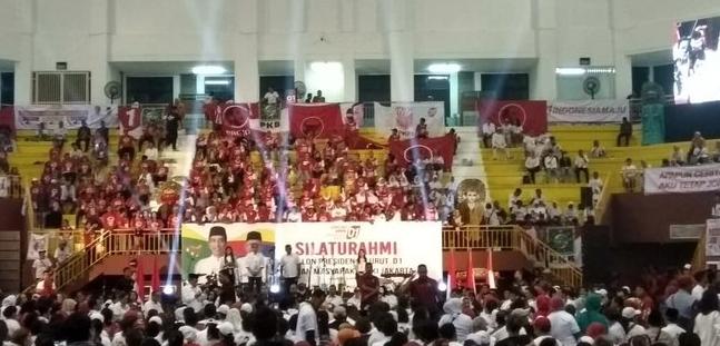 Jokowi Kampanye di Jakarta Timur, Tribun GOR Ciracas Tak Penuh