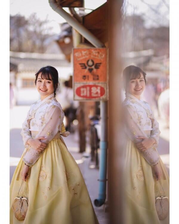 10 Potret Bulan Madu Kinal eks JKT48 di Korea, Bak Adegan Drama!
