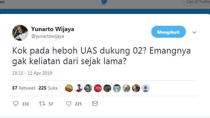 UAS Dukung Prabowo, Yunarto Wijaya: Emangnya Gak Kelihatan Dari Sejak Lama?