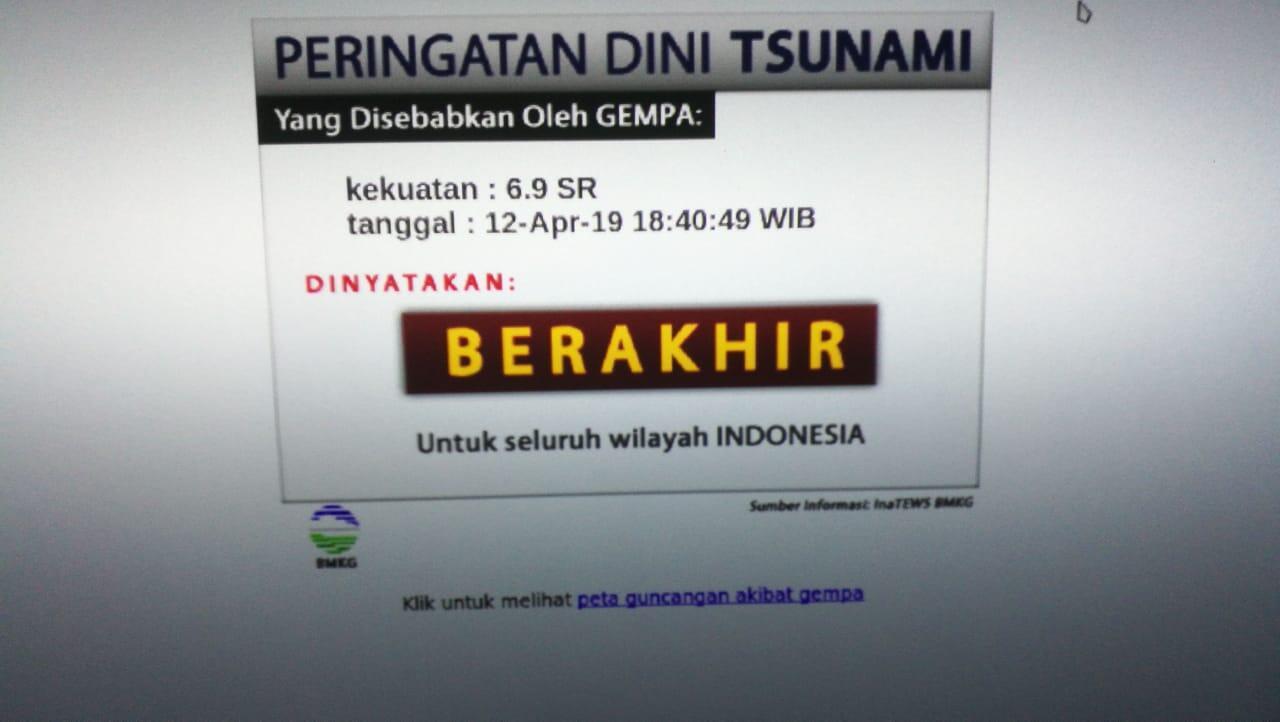 Gempa Magnitudo 6.9 Mengguncang BanggaiKep-Sulawesi Tengah