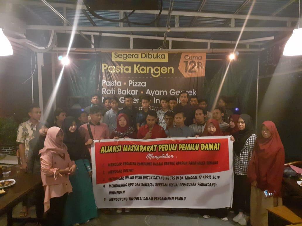 Dukung TNI POLRI Kawal Pemilu, Milenial Gorontalo Deklarasi Pemilu Damai