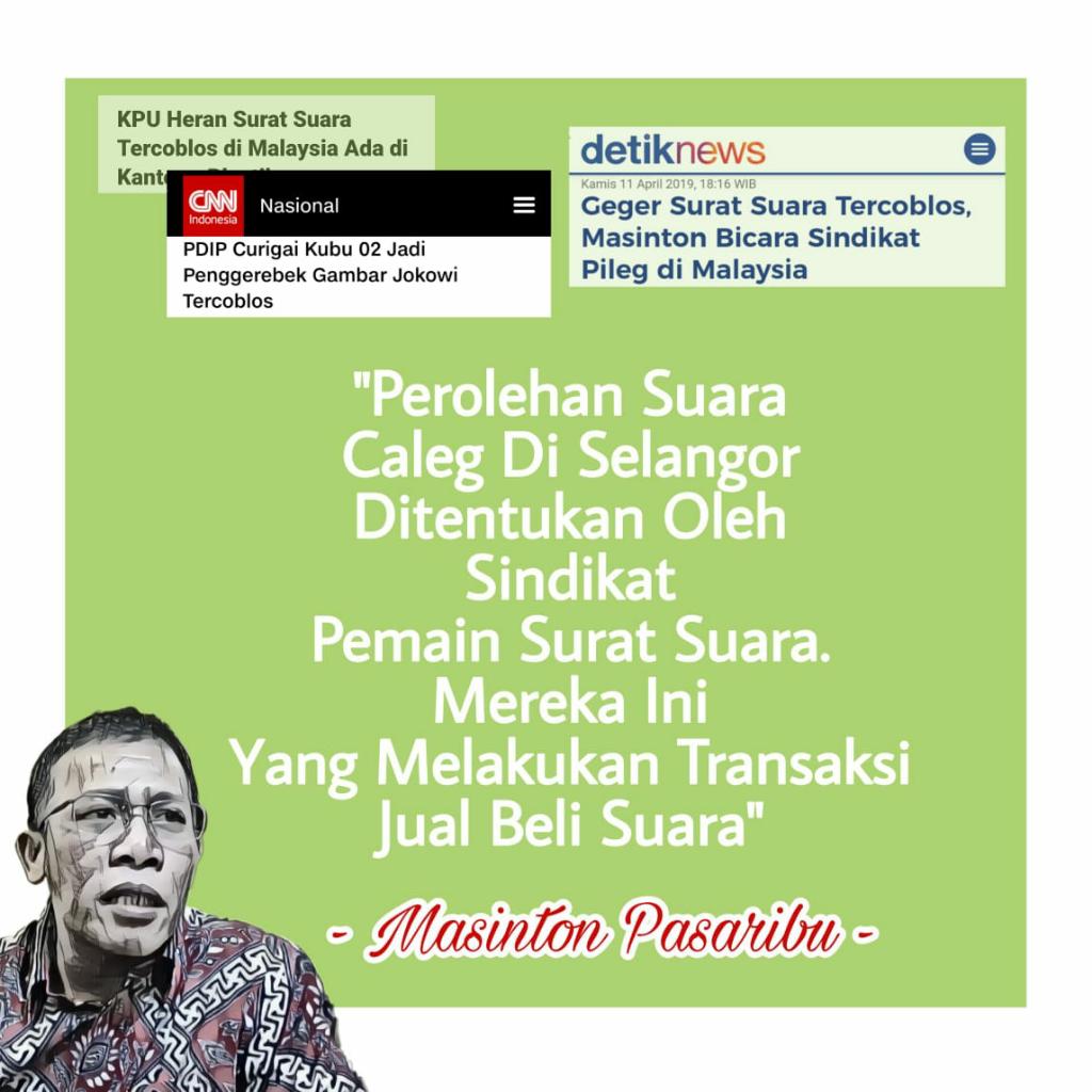Terbongkarnya Sindikat Pileg dan Kejanggalan Surat Suara Tercoblos di Malaysia