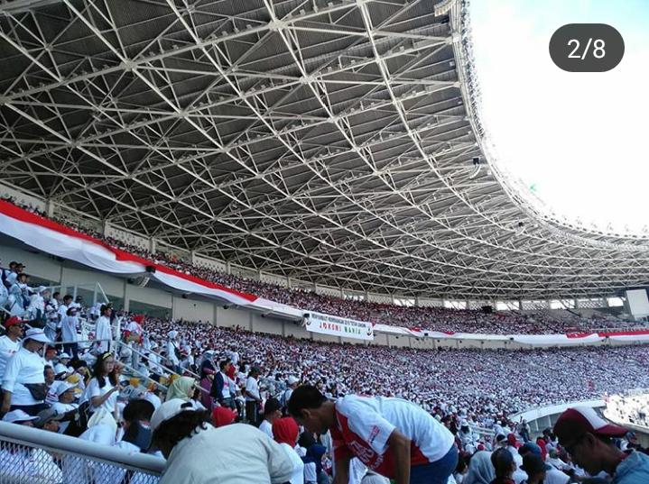 Pendukung Jokowi-Ma'ruf Mulai Padati GBK