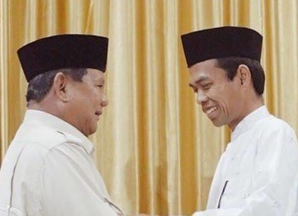Bagaimana Jika Ustad Abdul Somad Positif Dukung Prabowo Menjadi Presiden?