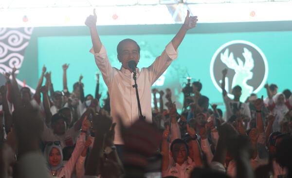 Sempat Turun, Jokowi Sebut Posisinya Imbang di Bogor