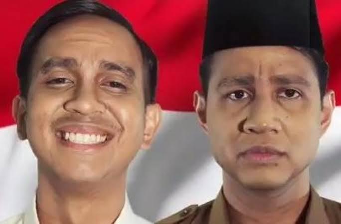 Rap Battle Parodi Prabowo vs Jokowi Karya SkinnyIndonesian24 trending no 1 di youtube
