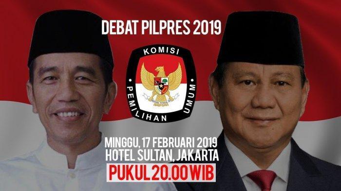 Live Streaming Debat Pilpres Sabtu Malam Ini 20.00 WIB.
