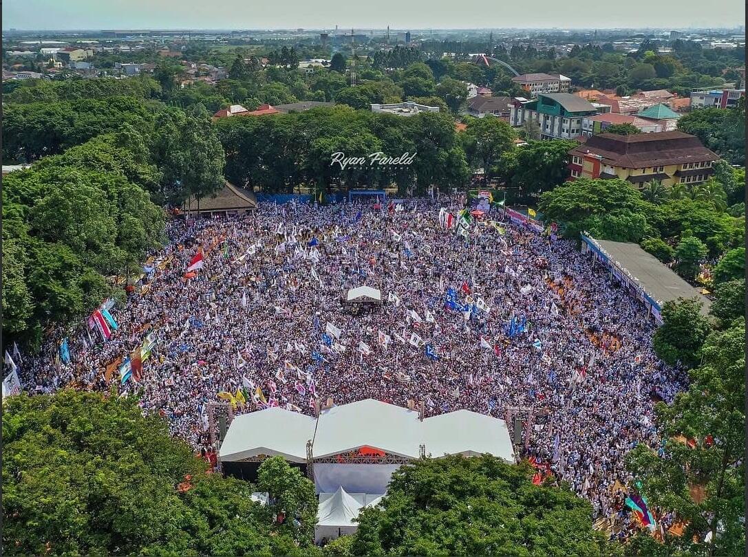 Ribuan Massa Padati Kampanye Prabowo-Sandiaga Uno di Tangerang