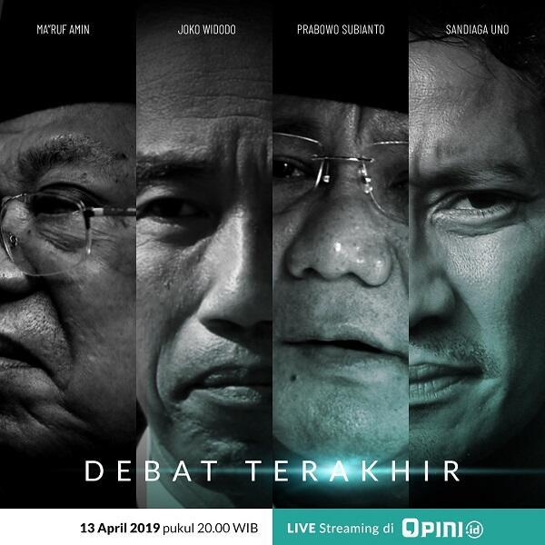 Nobar Debat Terakhir Pilpres 2019, Diskusikan Disini Yuk Gan!