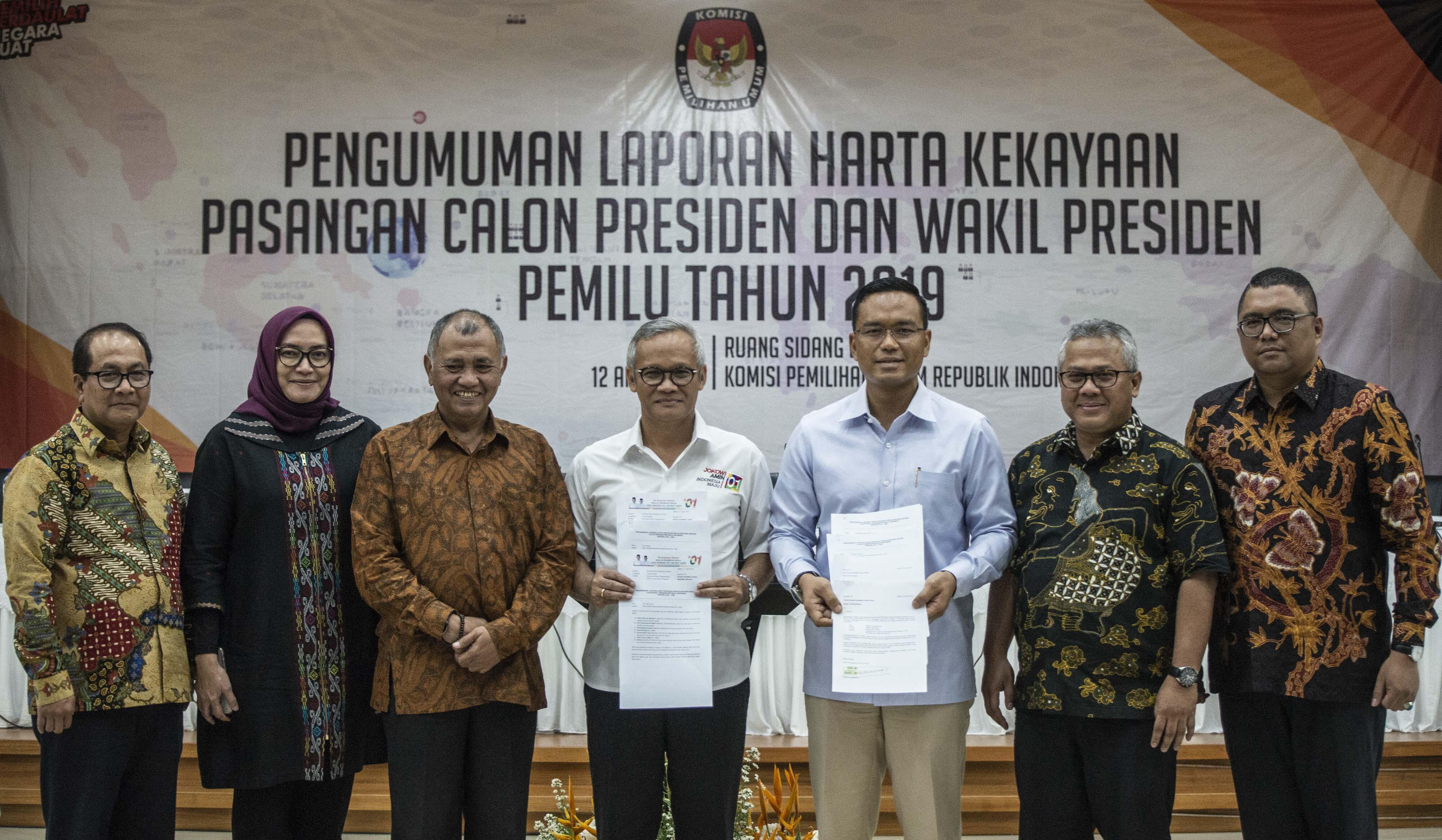 KPK dan KPU umumkan laporan harta kekayaan capres-cawapres