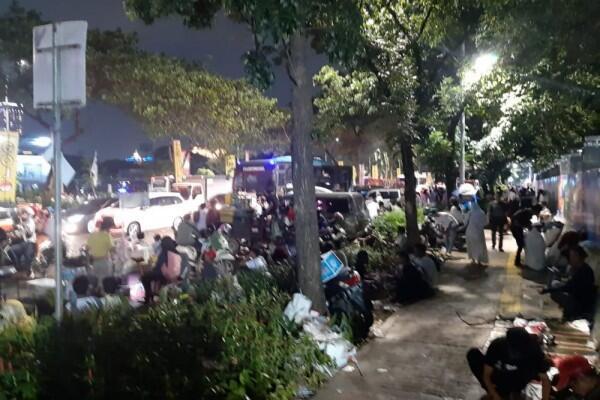 Rombongan Relawan Jokowi-Ma'ruf Amin Pulang, Jalanan Tersendat