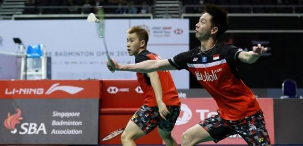4 Fakta Babak Semifinal Singapore Open 2019, Marcus/Kevin Terhenti!
