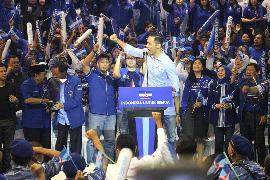 AHY, Pakde Karwo, Emil Dardak Ajak Warga Jatim Coblos Demokrat