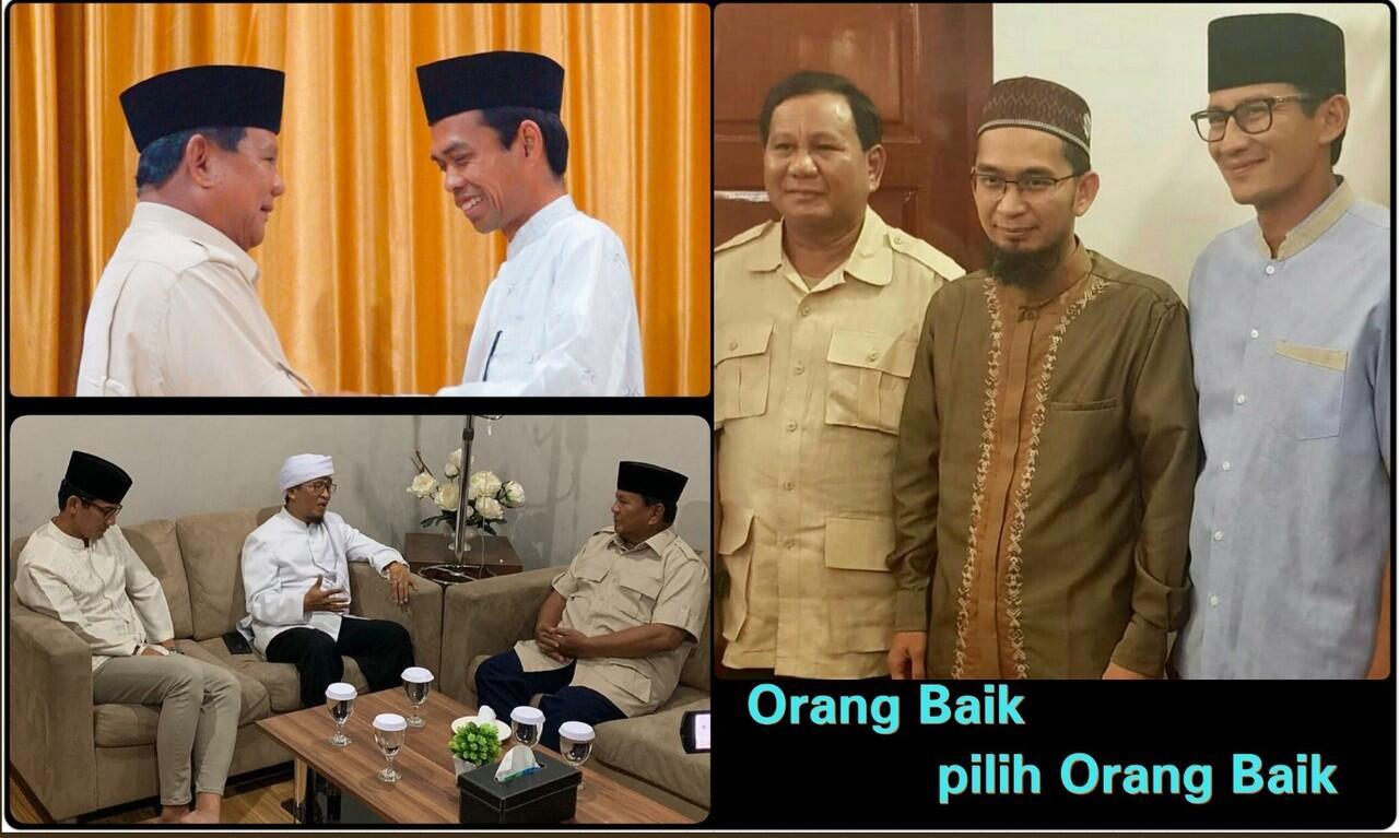 Setelah Ustadz Abdul Somad dan Ustadz Adi Hidayat Giliran Aa Gym Dukung Prabowo-Sandi