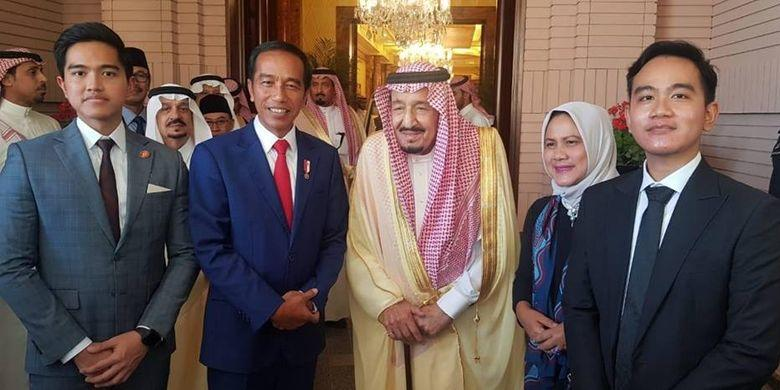 Presiden Jokowi Ajak Gibran dan Kaesang Bertemu Raja Salman