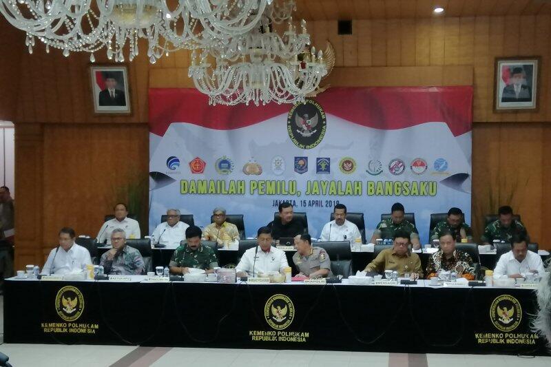 Menko Polhukam Gelar Rakor Kesiapan Pengamanan Pemilu 2019