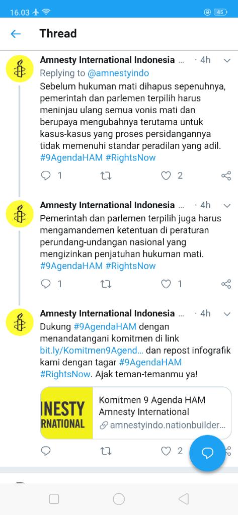 Amnesty Indonesia Minta Pemerintah Hapuskan Hukuman Mati