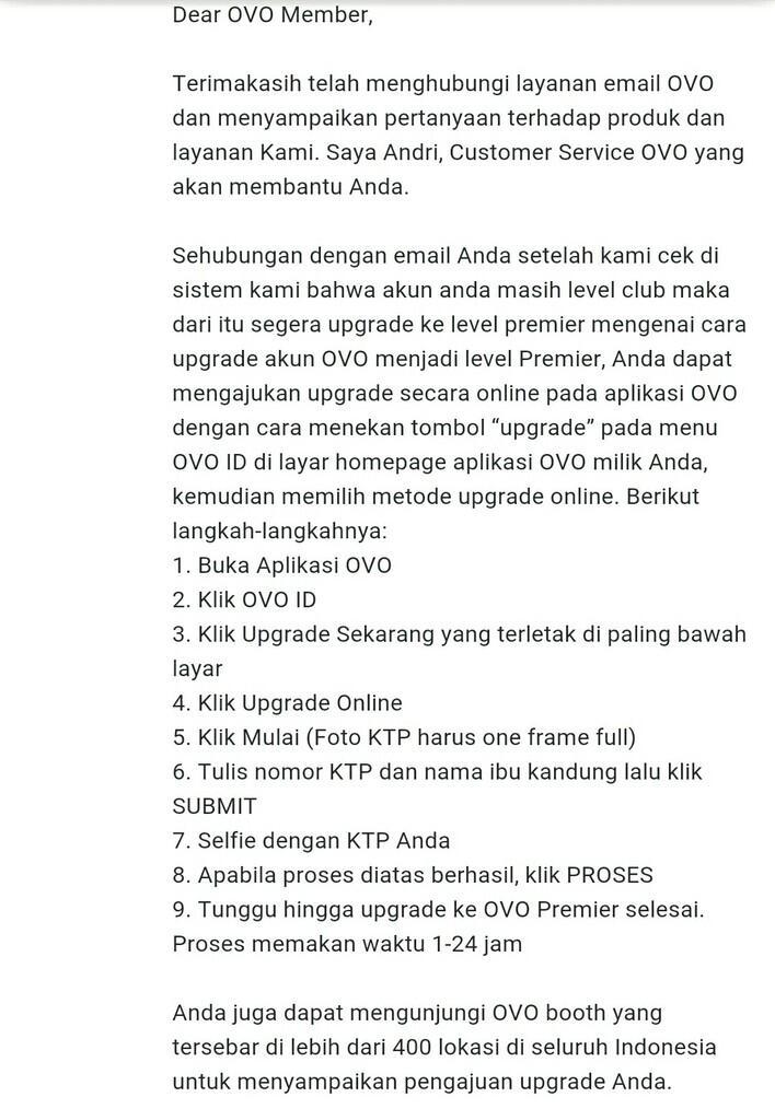 OVO Tuntut KTP-Selfie untuk Ambil Uang Salah Transfer & Tutup Akun
