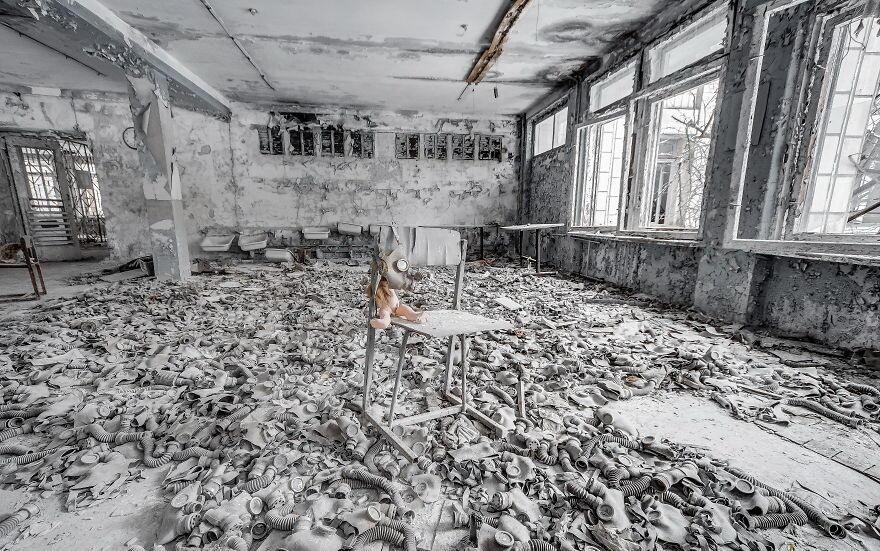 Suasana Mencekam Kota Chernobyl Setelah 33 Tahun Menjadi Kota Mati