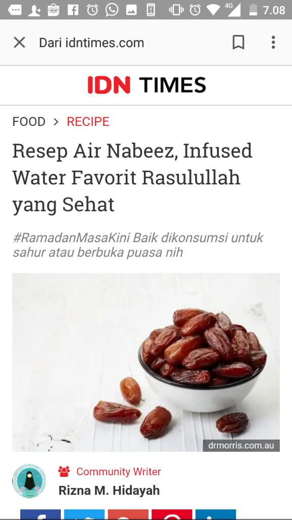 Air Nabeez Solusi Bugar Selama Ramadan Bagi Penderita Diabetes dan Mag