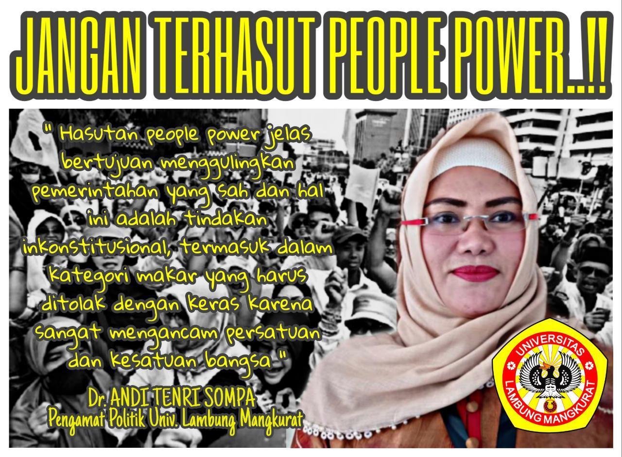 Awas, Provokasi People Power Sangat Menyesatkan Masyarakat