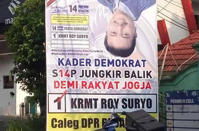 Roy Suryo TAK MASUK Caleg di DIY yg Lolos ke DPR !!!