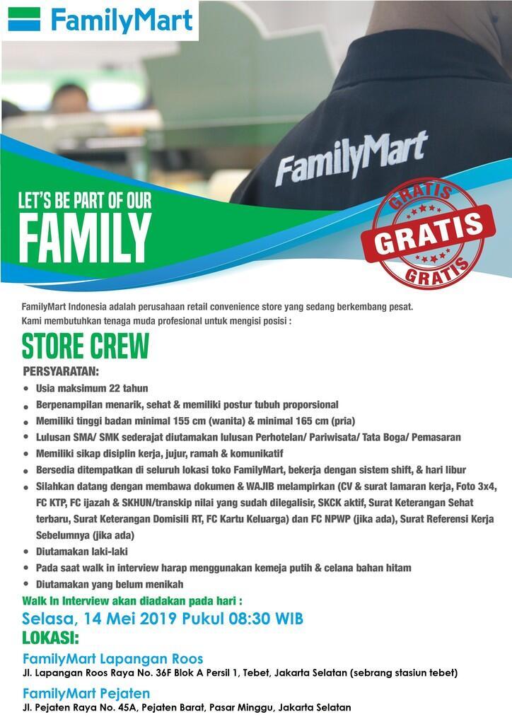 Walk Interview Store Crew 14 Mei 2019