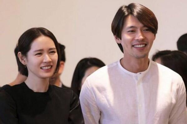 10 Potret Mesra Hyun Bin & Son Ye JinBeradu Akting di Drama Baru