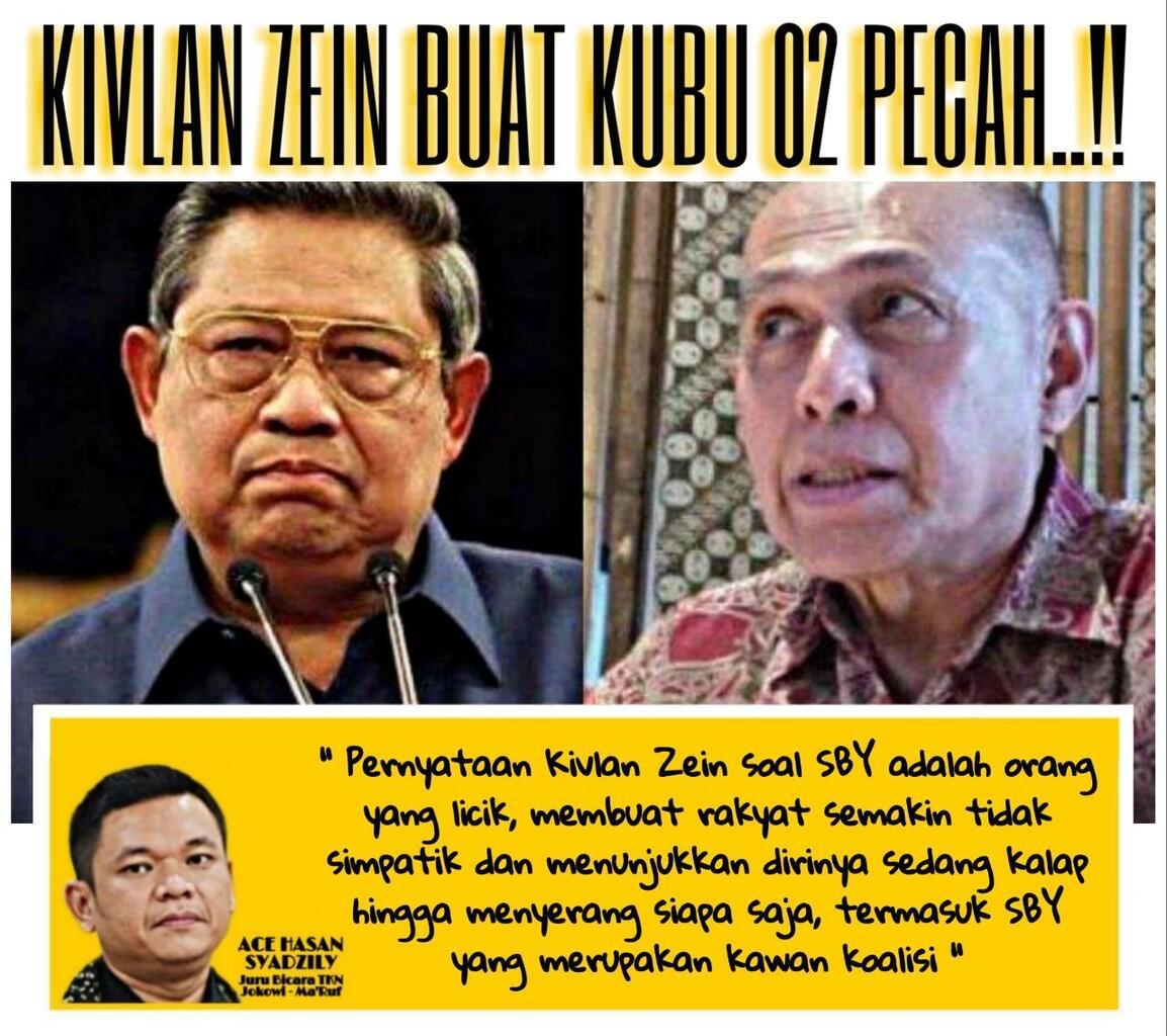 Konflik SBY dan Kivlan Zen, Tanda Menuju Bubarnya Koalisi Prabowo-Sandi