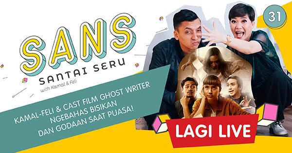 """SANS Ngebahas """"Bisikan Sesat"""" saat Berpuasa Bareng Cast Film Ghost Writer!"""