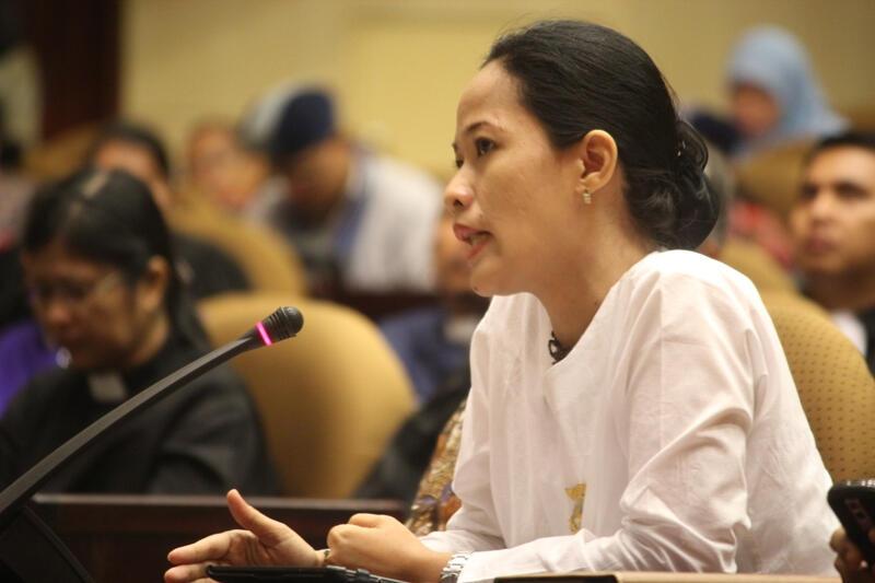[Foto] Dewi Kanti: Mengingatkan HKBP Untuk Toleran Pada Umat Parmalim