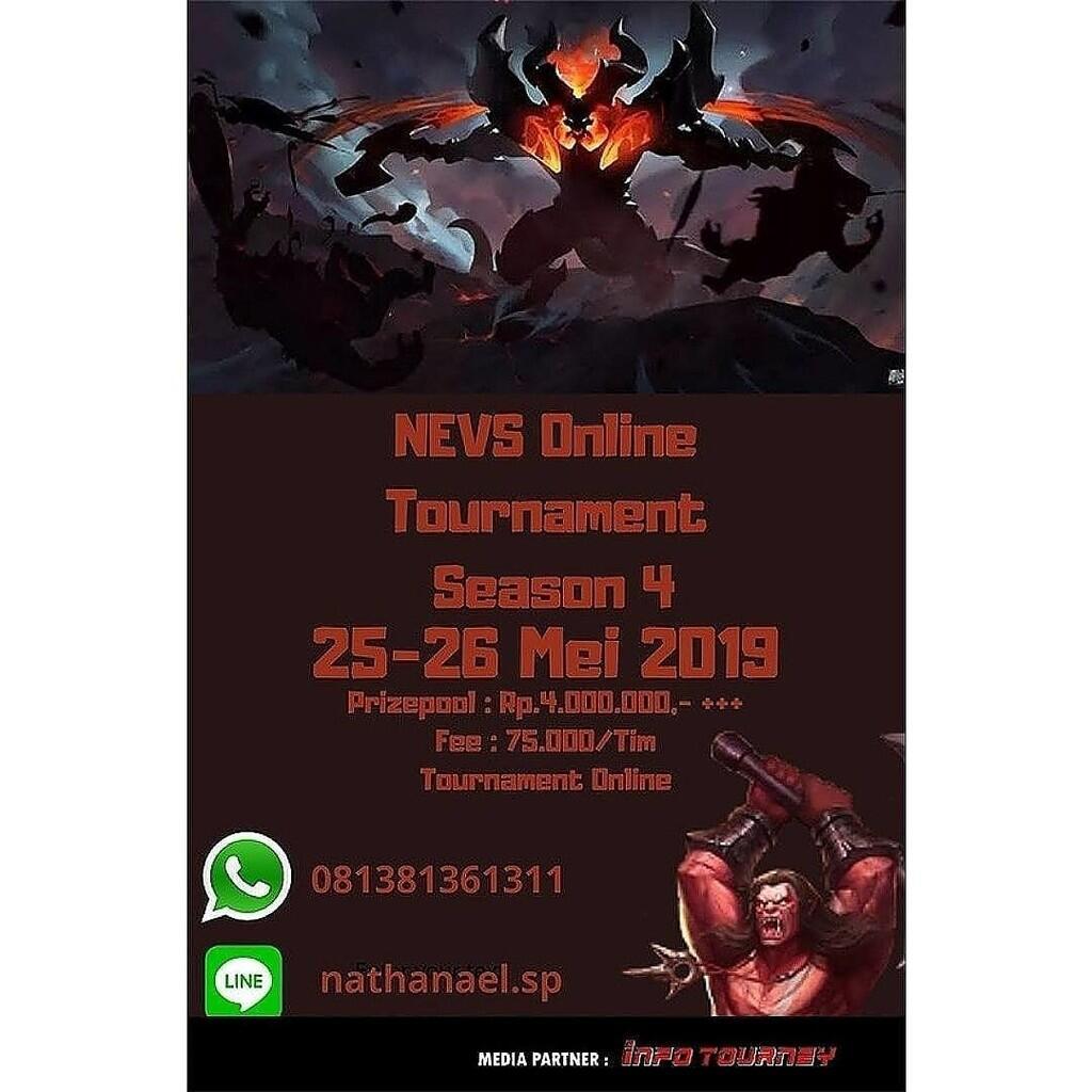 NEVS Online Tournament S4 Total hadiah 4 jutaan!!!