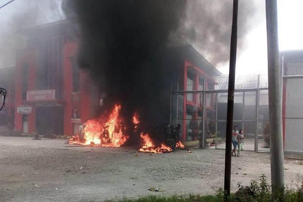 Lapas Narkotika Langkat Diduga Dibakar Sejumlah Napi Melarikan Diri