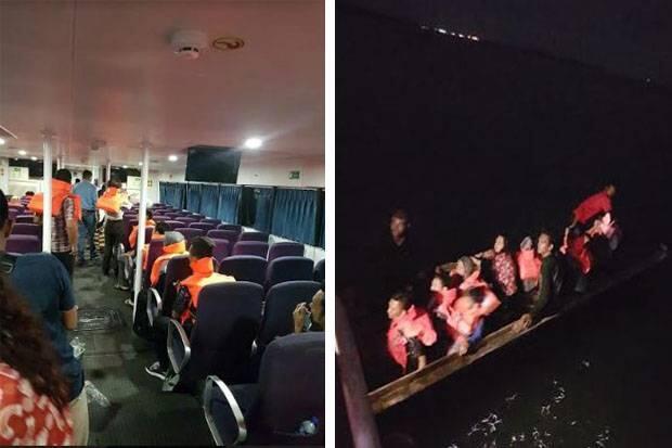 Kapal Feri Tanjungpinang-Batam Kandas Menabrak Karang, Penumpang Panik