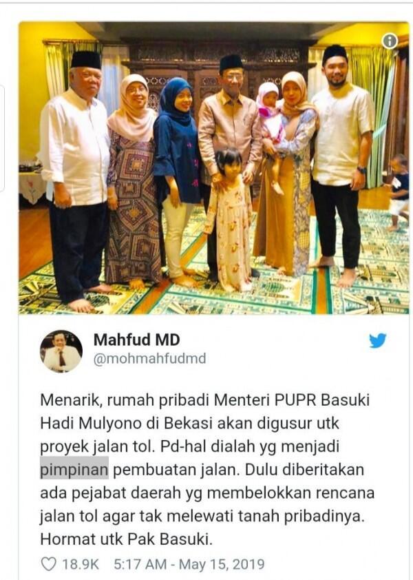 Rumah Kena Gusur Proyek Tol, Menteri Basuki: Ya Sudah, Terusin!