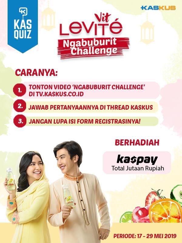 Hadiah Total Jutaan Rupiah Nungguin Nih, Buruan Nonton Levite Ngabuburit Challenge!