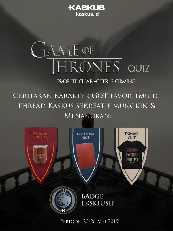 Ini Pemenang Kuis Game of Thrones x KASKUS Part 2!