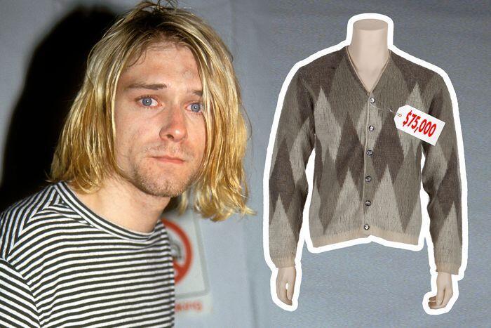 Sweater Kurt Cobain Ini Dilelang Mulai dari Rp 1 Milyar Gan, Minat?