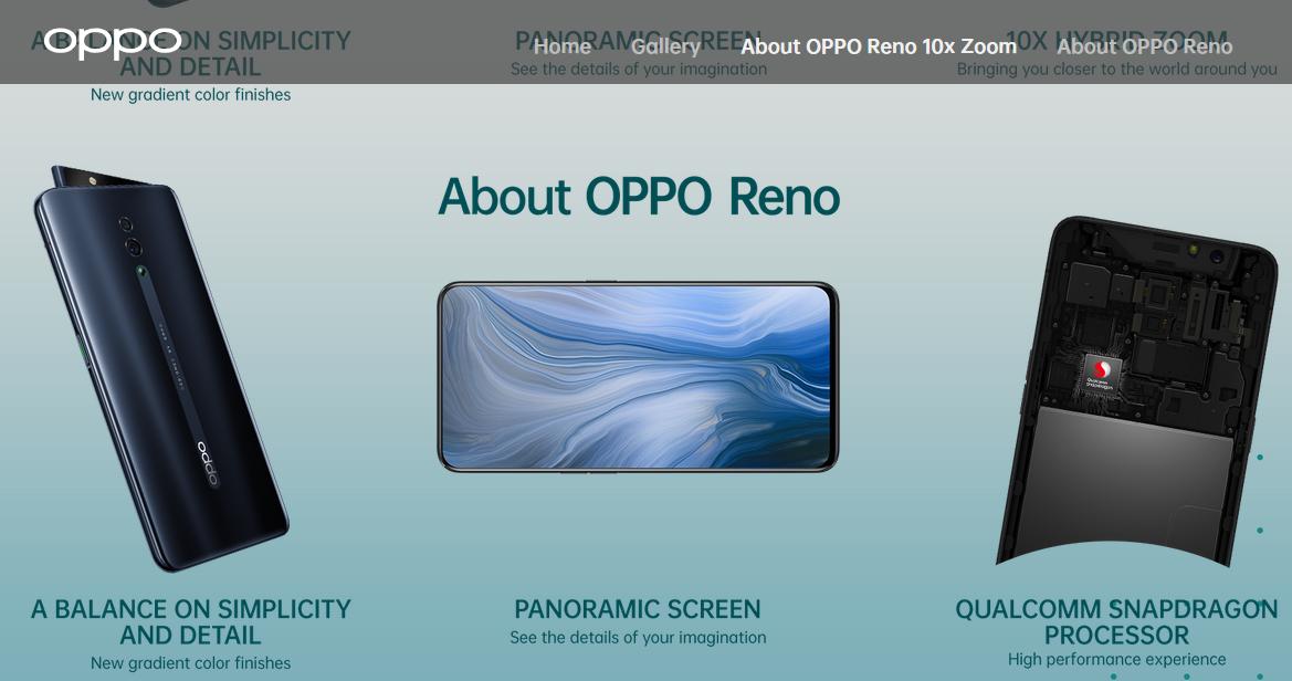 Melihat Harga Oppo Reno dengan keunikan Pop Up Kamera dan Spesifikasinya