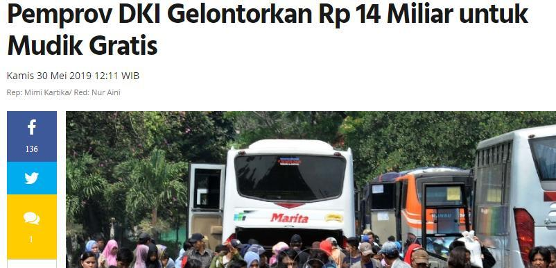Anies Lepas 17.427 Warga yang Ikut Mudik Gratis Pemprov DKI Jakarta
