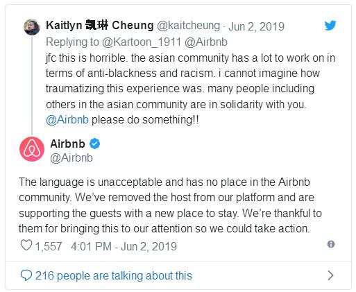 Balasan #8 dari Airbnb Host Kicks Out Black Guests After Calling