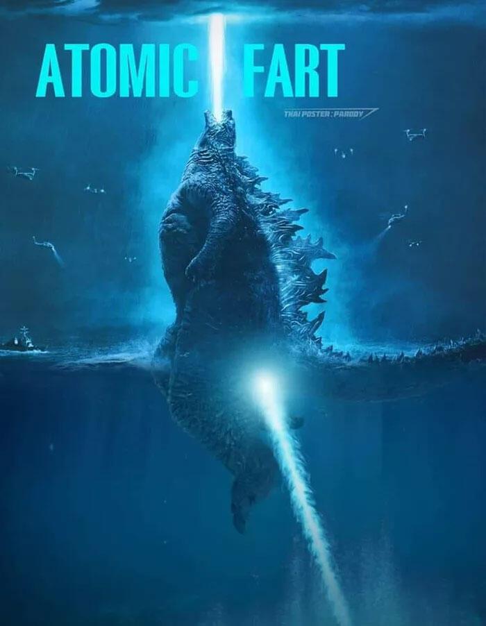 Ernest, Memecahkan teka-teki bagaimana Godzilla bisa tampak Berdiri di Lautan