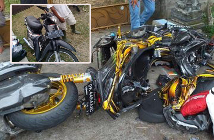 Heboh Yamaha XMAX Hancur Berantakan Tabrakan dengan Honda Supra Ternyata Ini Faktanya