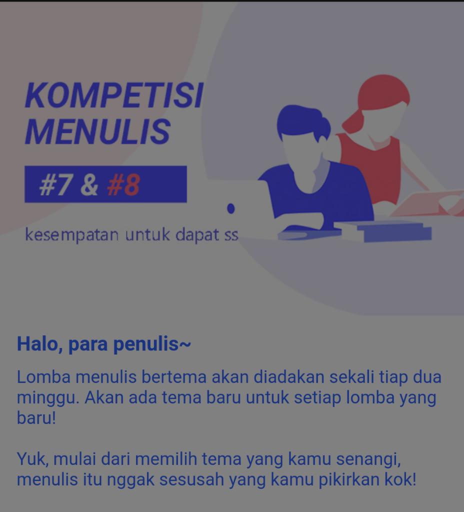Lomba Menulis Di WEBNOVEL