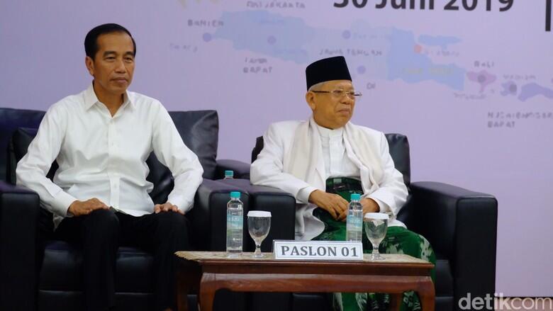 Sah! KPU Tetapkan Jokowi-Ma'ruf Presiden dan Wapres Terpilih