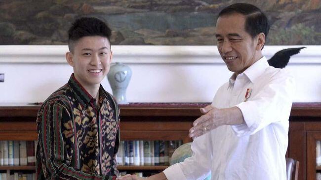 Rich Brian Temui Jokowi di Istana Bogor